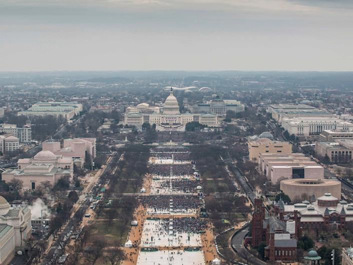 <p>The inauguration of Donald Trump in 2017</p> (AFP via Getty)